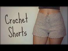 New ideas crochet skirt easy dress tutorials Motif Bikini Crochet, T-shirt Au Crochet, Crochet Shorts Pattern, Crochet Pants, Crochet Bikini Bottoms, Black Crochet Dress, Crochet Skirts, Crochet Clothes, Black Crochet Shorts