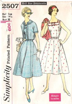 1950s Sundress and Jacket Sewing Pattern, offered on Etsy by GrandmaMadeWithLove