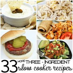 "I love these 33 3 ingredient slow cooker recipes! It took me a while, but I made my way through the list and they've all got our ""stamp of approval""."