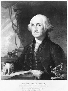 George Washington, first president of the United States. Black and white vintage print from the Library of Congress. Original Artist: Gilbert Stuart (1755-1828). Carefully edited to get a great print or poster for your home or office wall. Available as poster, framed fine art print, metal, acrylic or canvas print. Matthias Hauser hauserfoto.com - Art for your Home Decor and Interior Design needs.
