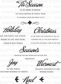 Big & Bold Holiday Wishes Stamp Set by Papertrey Ink. $24