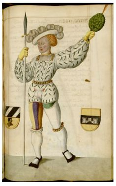 Illustrations from a century manuscript detailing the phenomenon of Nuremberg's Schembart Carnival Madonna, Renaissance, Image Theme, Landsknecht, Medieval Art, Medieval Life, Effigy, Dark Ages, 15th Century
