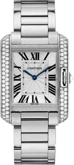 #Cartier Tank Anglaise White Gold #Watch