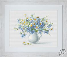 Cornflowers and camomiles - Cross Stitch Kits by Luca-S - B2275