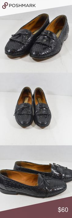 2ee7c729f02261 Domani Johnston Murphy Mens 10.5 M Woven Loafers Domani by Johnston and  Murphy Woven Kilted Loafers