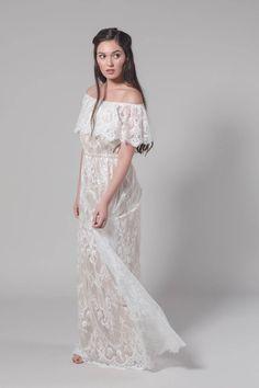 Wedding Dress, Dress, Bridesmaid Dress, Boho Wedding Dress, Maxi Dress, Lace Wedding Dress, Off the Shoulder Dress, A Wedding Dress, Chantel by MarisolAparicio on Etsy https://www.etsy.com/listing/503629956/wedding-dress-dress-bridesmaid-dress