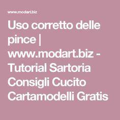 Uso corretto delle pince | www.modart.biz - Tutorial Sartoria Consigli Cucito Cartamodelli Gratis