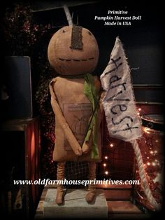 Primitive Fall Harvest Doll (Made In USA)