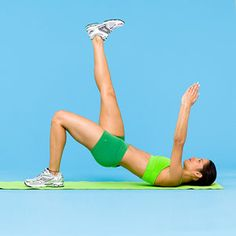 The Single Bridge -- targets abs, obliques, hips and butt.