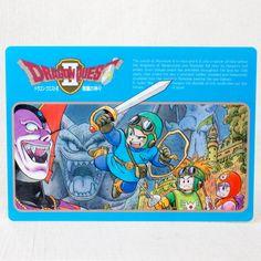 Dragon Quest 2 Plastic Pencil Board Pad Shitajiki Toriyama Akira Warrior JAPAN