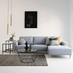 Luxe living room love with our NEW ARRIVAL Brody 2.5 seater + chaise in nana ice fabric, Hexagon coffee table in black, Manhattan low and high side tables in marble / black, all homewares by @ozdesignfurniture #newarrival #home #living #interiors #contemporary #style #design #styling #homedecor #homewares #interiordesign #luxe #gold #black #getthelook #home #FF #design
