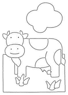 Koe in de wei Preschool Writing, Kindergarten Art, Kindergarten Worksheets, Writing Activities, Preschool Activities, Shapes Worksheets, School Worksheets, Worksheets For Kids, Farm Kids