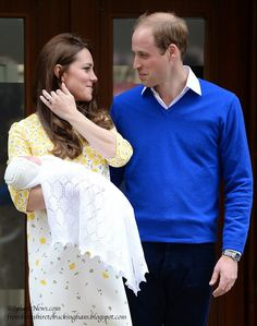 April Showers Bring May Flowers: Prince William and Duchess Kate Present Their New Princess