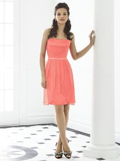 Strapless short chiffon Dress, with other color possibilities. $145.00 http://www.dressforlessbridal.com/3536-after-six-6650.html?gclid=CNDF4tm5xbYCFQ-xnQodIA8AXw