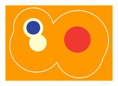 "Saatchi Online Artist: Ian Scaife; Vector, Digital ""Orange Circles with Blue"""
