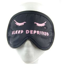 This sleep mask kit is perfect for traveling, the masks folds into a small pouch for easy carry. Inside the case is a pair of earplugs and a neat little earplug case to keep your earplugs dust free while you travel.