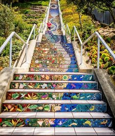 Moraga Steps, San Francisco x : CityPorn High Quality Images, Railroad Tracks, San Francisco, Stairs, Cities, Photography, Travel, Buildings, Decor