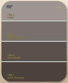Resultado de imagem para brownish grey paint for feature wall