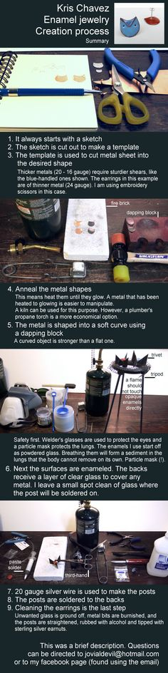 Kris Chavez, process for enamel jewelry design, #how to #jewelry making