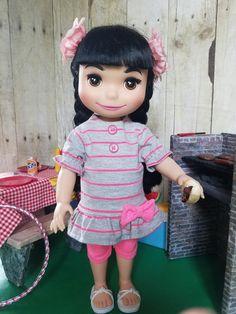 Sweet Pink Leggings Set for Disney Animators Dolls! by CreativelyEllie on Etsy