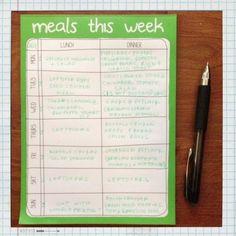 Kasia's Kitchen: Meal Planning 101: Week 36