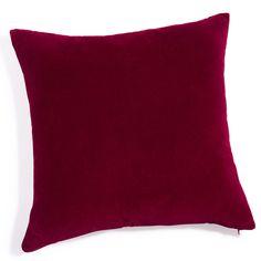 Rood fluwelen kussen 60 x 60 cm