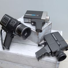 Collection Of 3 Super 8 Cameras