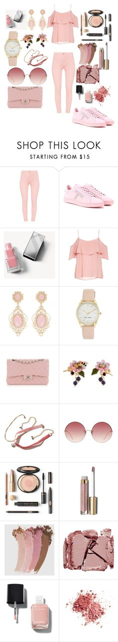 """pinkk!!"" by irmaa612 ❤ liked on Polyvore featuring Tod's, Burberry, BB Dakota, Nine West, Chanel, Les Néréides, Hollister Co., Linda Farrow, Stila and Gucci"