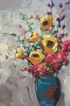 Still Life with Sunflowers, www.jillvansickle.com, floral, still life, painting, original art, artwork, 24x36