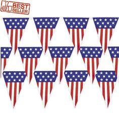 Patriotic Pennant Banner Decoration Flag USA Spirit America Event Memorial Day #FX #MemorialDay