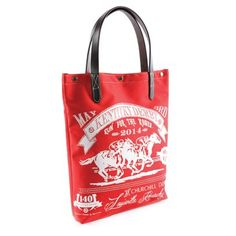 Check out this item at One Kings Lane! Kentucky Derby Canvas Tote, Red