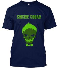 Green Joker Sign T Shirt Navy T-Shirt Front