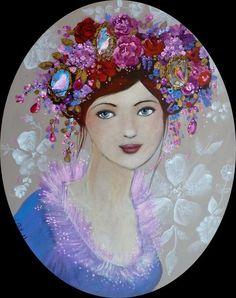 Des portraits fleuris, un monde de rêves colorés, merveilleux ! Loetitia Pillault