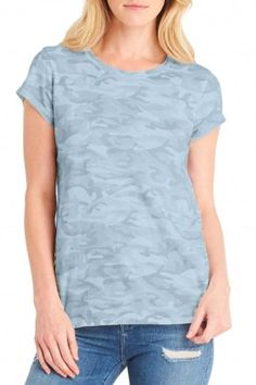 "Michael Stars Camo Crew Neck Tee is cute as can be! Pair this with your favorite jeans and layer on your denim or fatigue jacket. Wear casually, out dancing, or to yoga! So versatile. Semi-Fitted. Length is 25"". Machine Wash Cold. Tumble Dry Low.    Camo Crew Tee by Michael Stars. Clothing - Tops - Tees & Tanks Vermont"