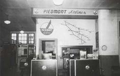 #Roanoke Ticket Counter 1952 #Piedmont #Airlines