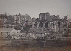1858/60 Cuccioni Tommaso (attr.) Il Palatino visto dal Circo Massimo.