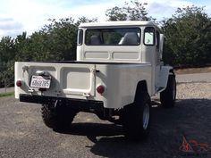 Toyota landcruiser fj45 shortbed convertable pickup chevy v8 full restoration