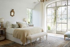Rustic Refinement: A Bedroom with European Charm