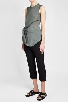 RICK OWENS - Ellipse Draped Top | STYLEBOP