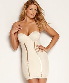 Flexees by Maidenform Shapewear, Firm Control Slip Easy Up Strapless Convertible 2304 @Elaine Young Shortell $30