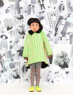 Un look rétro-futur Franky Grow Kids Winter Fashion, Fashion Design For Kids, Fashion Kids, Toddler Fashion, Kids Mode, Style Du Japon, Look Retro, Cool Kids Clothes, Asian Babies