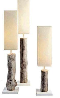 Idee fai da te per arredare con rami e tronchi - Lampade originali