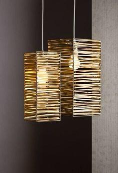 DIY Bamboo lampshades design and ideas .- DIY Bambus Lampenschirme Design und Ideen DIY bamboo lampshades design and ideas - Diy Home Crafts, Diy Home Decor, Diy Para A Casa, Diy Luminaire, Lampshade Designs, Bamboo Crafts, Diy Holz, Wooden Lamp, Lamp Shades