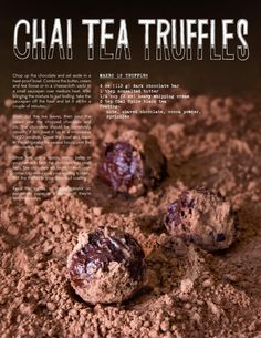 Chai Tea Truffles - A Week of Chai by Stash Tea Company