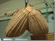 "Traditional Full Fanny Sea Grass Ribbed Basket, woven in #000 twisted baby sea grass, 14"" diameter on the rim opening. This basket is very labor intensive to weave."