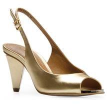 Peep Toe Carrano   GOLD