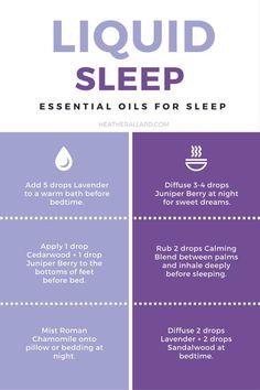 liquid sleep: essential oils to use