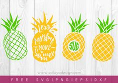 Free Pineapple SVG, PNG, EPS & DXF by Caluya Design. Compatible with Cameo Silhouette, Cricut and other major cutting machines!Perfect for your DIY projects, Giveaway and personalized gift. Pineapple Monogram, Pineapple Design, Pineapple Images, Freebies, Silhouette Cameo Projects, Vinyl Crafts, Paper Crafts, Cricut Creations, Christmas Svg