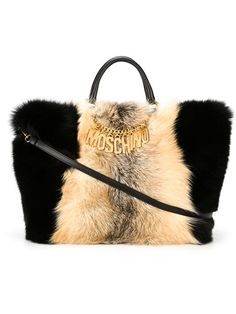 Shop Moschino fox fur tote in  from the world's best independent boutiques at farfetch.com. Shop 300 boutiques at one address.