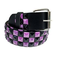 Brought to you by Avarsha.com: <div><div>This Faddism Checker Pyramid Studded Belt adds a Stylish Punk Rock feel to any outfit!</div><ul><li>Silvertone Buckle Belt</li><li>Approximate width: 1.5 inches</li><li>Approximate length: M: 34-36 inches</li><li>Size: Medium</li><li>Model: BELT-B641BKPLM</li></ul><div>Silvertone Buckle Belt</div></div>
